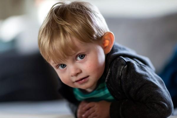 Portræt af dreng af Niels Foltved