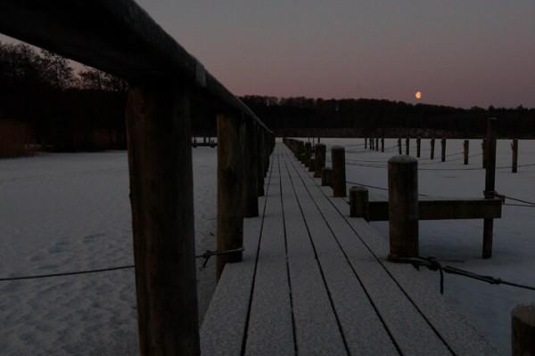 Bådbro Vinteraften af Niels Foltved